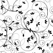 Beautiful seamless floral pattern — Vector de stock