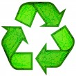 Recycle symbol made of animals — 图库矢量图片