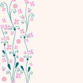 Mignon fond floral sans soudure — Vecteur