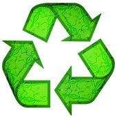 Recyklované symbol ze zvířat — Stock vektor