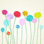 Schattig floral achtergrond — Stockvector