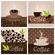 Set of elegant coffee themed backgrounds — Stock Vector