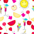 Royalty-Free Stock Vector Image: Cute seamless summer background