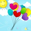 Royalty-Free Stock Vector Image: Cute balloons flying in the sky