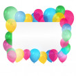 Card with balloons — Stock Vector