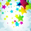 Elegant party background with colorful stars — Image vectorielle