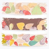 Foglie di autunno colorato banner — Vettoriale Stock
