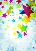 Elegant party background with colorful stars — Stock Vector