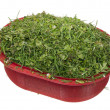 Chopped lawn green grass — Stock Photo