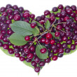 Stock Photo: Cherries summer fruit heart