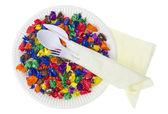 ペーパーの今後の食品のコンセプト — ストック写真