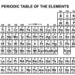Periodic table of the elements illustration — Imagens vectoriais em stock