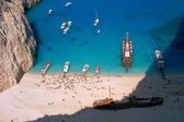 Boats in bay at Zakynthos island — Stock Photo