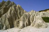 在扎金索斯岛的海岸边的岩石 — 图库照片
