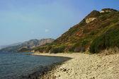 Strand met rock op eiland zakynthos — Stockfoto