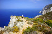туристический залив на остров закинтос — Стоковое фото