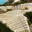 Stairs to beach at Zakynthos island — Stock Photo