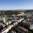 Highly detailed aerial city view, Spilberk Castle, Cathedral of — Stock Photo