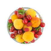 Top view on a bowl with berries — Stock Photo