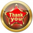 Stock Vector: Golden Thank You button.Vector