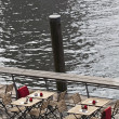 Stock Photo: Table on water