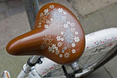 Decorative bicycle seat — Stock Photo