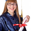 Happy Graduating Girl — Stock Photo