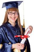Chica feliz graduación — Foto de Stock