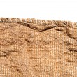 Old canvas edge fabric texture for old fashioned background — Stock Photo