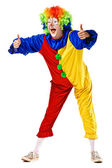 Happy clown shouw thumbs up — Stock Photo