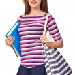 Portrait of a girl student with book — Stock Photo #12263655