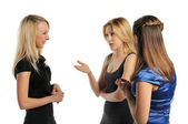 Three young attractive women — Stock Photo