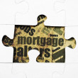 Mortgege puzzle — Stock Photo