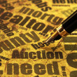 Foto de Stock  : Auction need
