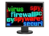 Virus and firewall concept — Stock Photo