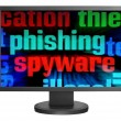 Phishing and spyware — Stock Photo