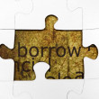 Stock Photo: Borrow puzzle concept
