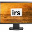 Irs tag on monitor screen — Stock Photo