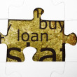 Loan puzzle concept — Stock Photo