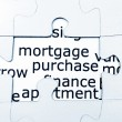 Mortgage puzzle concept — Stock Photo
