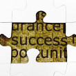 Success puzzle concept — Stock Photo