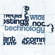 Stock Photo: Technology puzzle concept