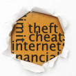 Internet cheat — Stock Photo