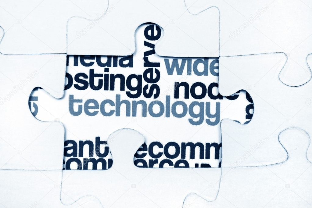 Technology puzzle concept  Stock Photo #11926666