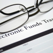 Stock Photo: Electronic funds transfer