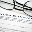 Physical examination form — Stock Photo #12033760
