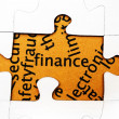 Finance puzzle concept — Stock Photo