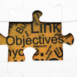 Stock Photo: Objectives puzzle concept