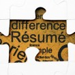 Stock Photo: Resume puzzle concept
