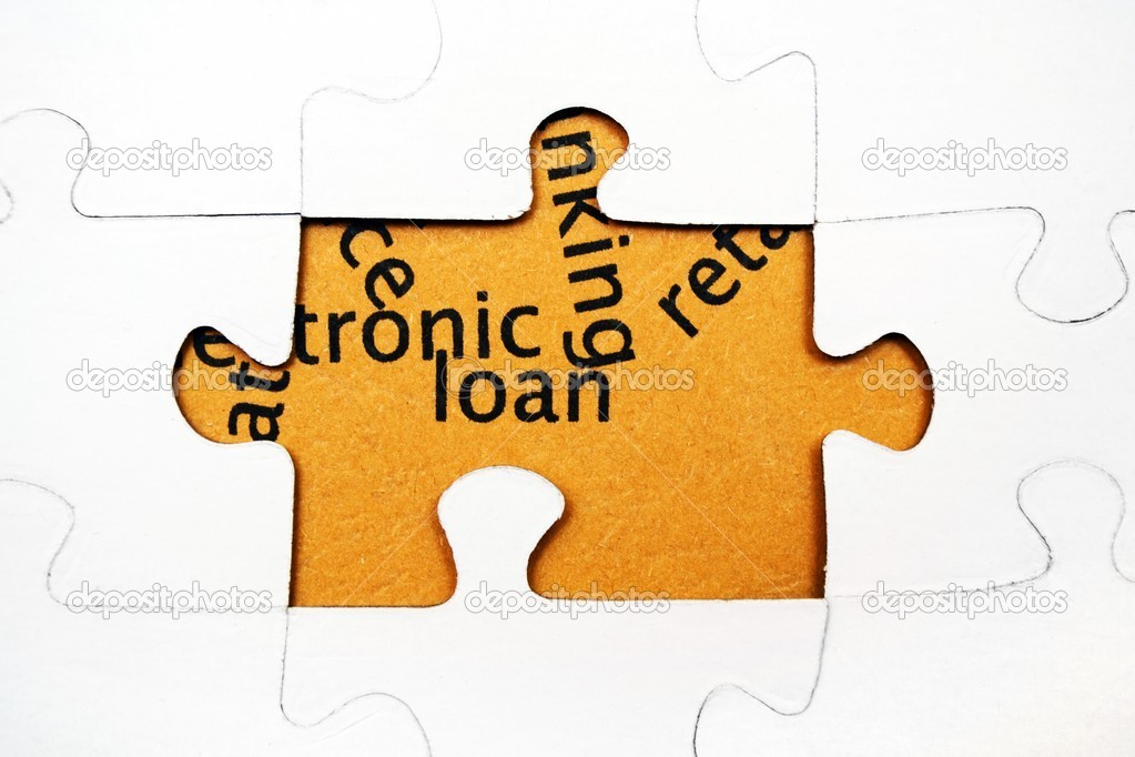 Loan puzzle — Stock Photo #12256680